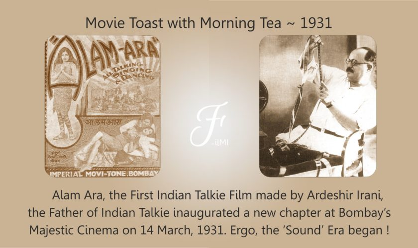 Movie Toast with Morning Tea 1931