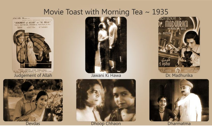 Movie Toast with Morning Tea 1935