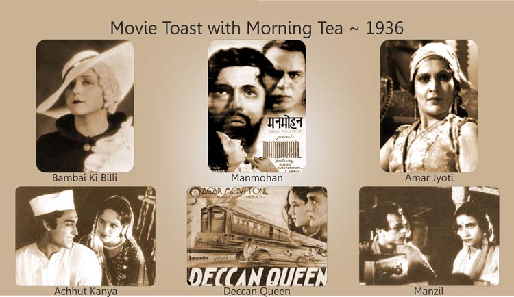Movie Toast with Morning Tea 1936